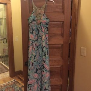 a878872af519ed Lilly Pulitzer Dresses - Lilly Pulitzer Lannette Embellished Chiffon Maxi